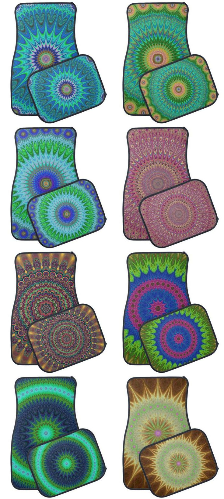 Floor mats dubai - Mandala Design Car Floor Mats Bohemian Car Decoration