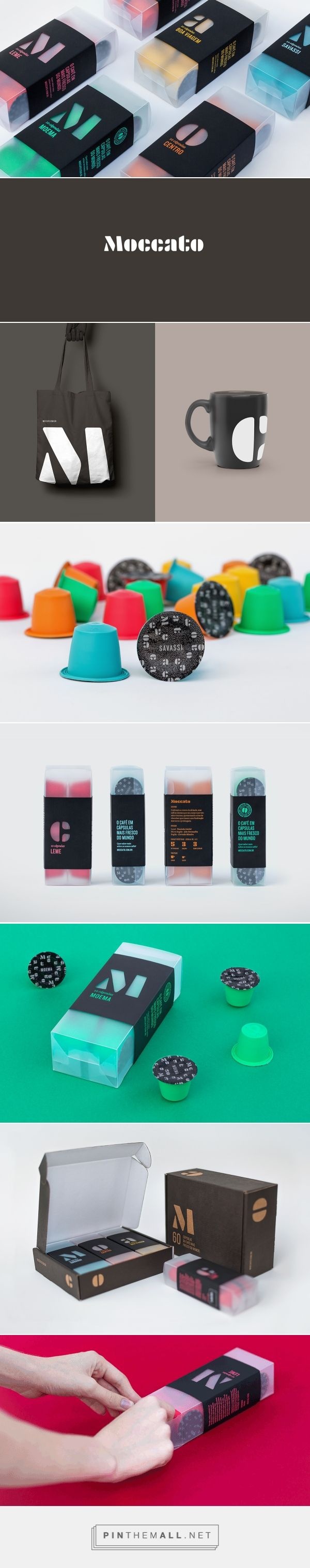 Moccato on Pantone Canvas Gallery curated by Packaging Diva PD. Packaging branding identity for Moccato, a coffee club for hardcore coffee lovers.