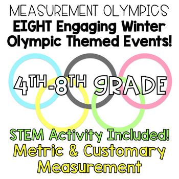 Set the stage to engage with these eight engaging, fun, and ACADEMIC activities to incorporate metric and customary measurement into your instruction! It's just in time for the Winter Olympics too! STEM Activity included! I will be UPDATING this product to add photos and more detailed directions once I complete it in my own classroom!