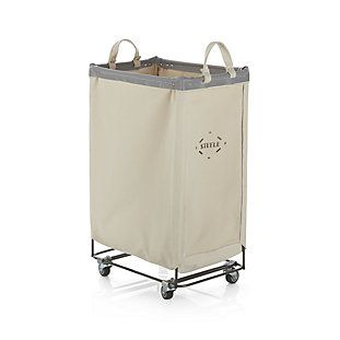 Shop Steele ® Square Canvas Bin.  Transform the laundry room into a place of organization and efficiency.  Made in the USA, this commercial-style bin is deep and spacious to store and move a lot of laundry and other household items.