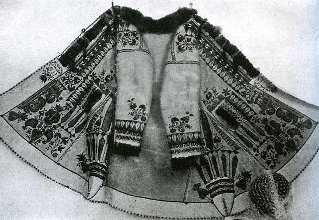 Illustration: Transylvanian embroidered woman's winter jacket