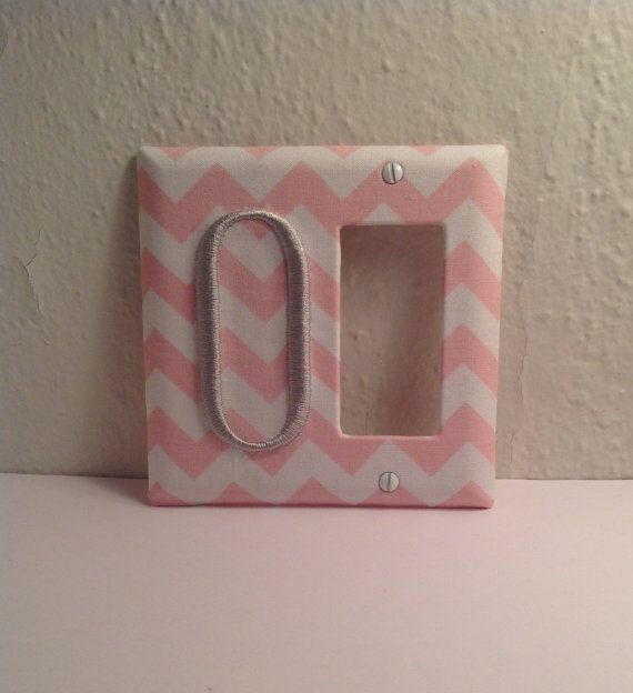Monogrammed Fabric Covered Light Switch Cover by LightningBugs, $15.50