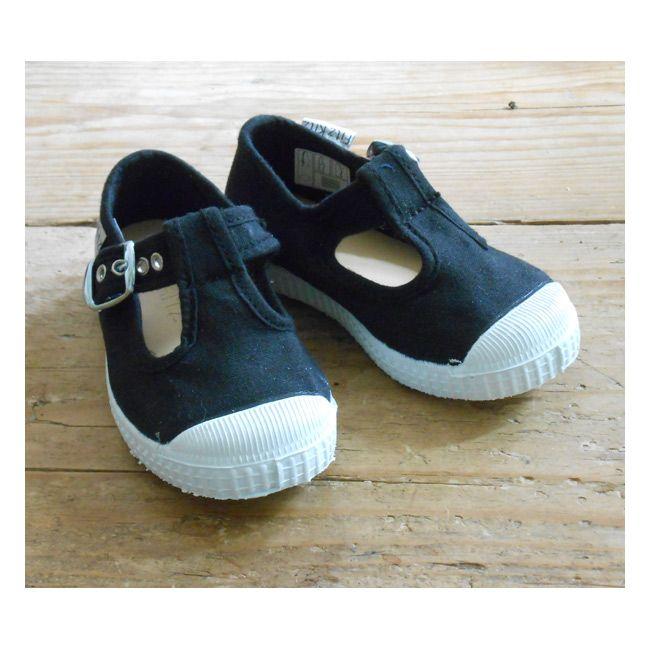Fitzkitz schoenen katoen/linnen zwart