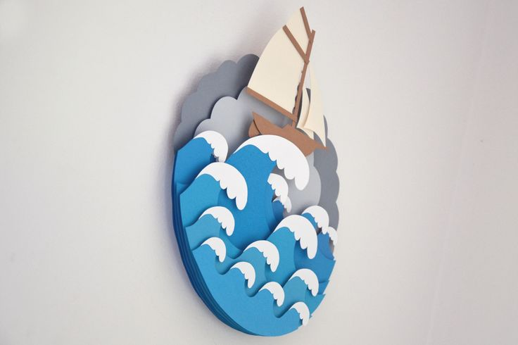 Handmade papercut artworks, primary considered as a decoration to the children room.