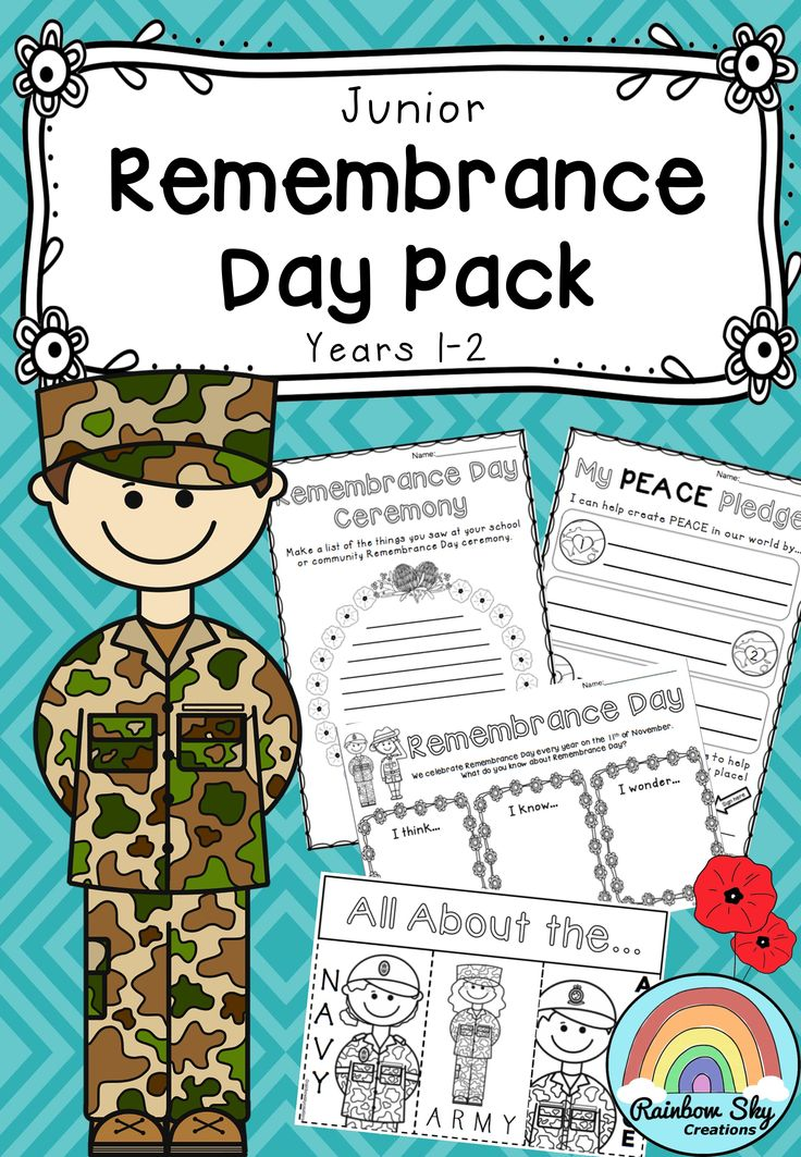 Junior Remembrance Day Pack - Within this package is a set of 20 learning activities that can be used as a sequenced series of lessons or as individual tasks to teach students about the significance of Remembrance Day in Australia. Year 1 - 2. ~ Rainbow Sky Creations ~