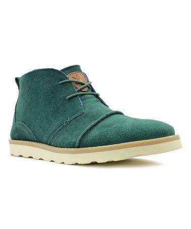 Forest Green Indio Suede Boot - Men #zulily #zulilyfinds