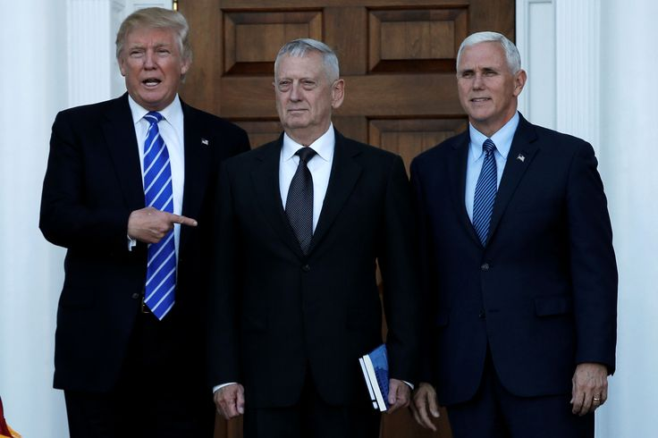President Trump, Vice President Pence and Head of the DOD General James Mattis.