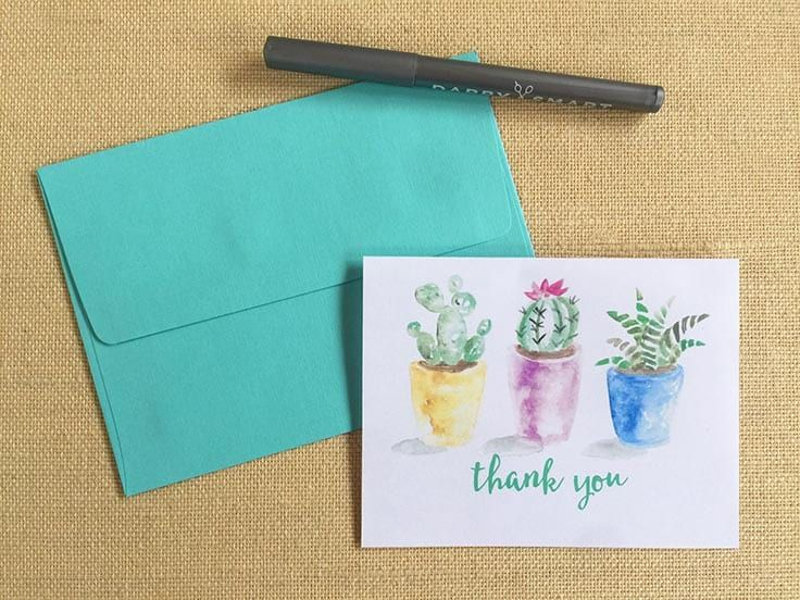 Diy Watercolor Notecards Monthly Diy Challenge Doodling