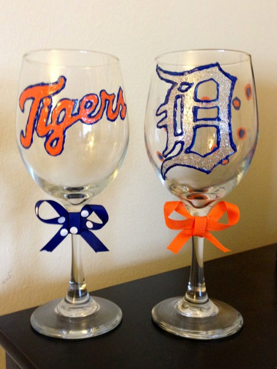 Detroit Tigers wine glasses. Would be cool in mariners tho.