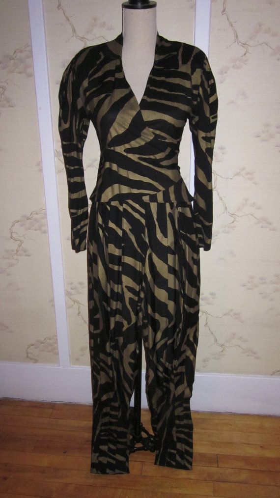 Norma Kamali vintage pants and blouse in size XS