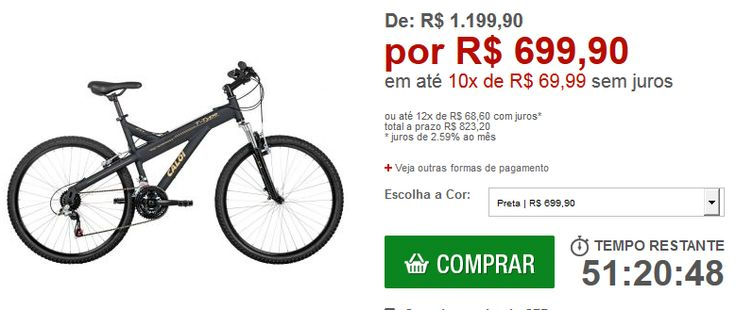 Bicicleta Caloi T-Type Aro 26 21 marchas Quadro em alumínio Suspensão Dianteira Câmbio Shimano << R$ 69990 em 10 vezes >>