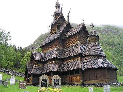 Borgund stave church by tnarik, via Flickr