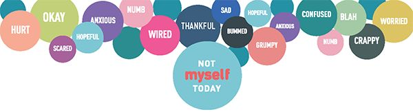 How are we feeling- -Today, we are feeling EXCITED, THANKFUL and (to be honest) a bit ANXIOUS as we launch our second year of the Not Myself Today campaign in workplaces across the country.