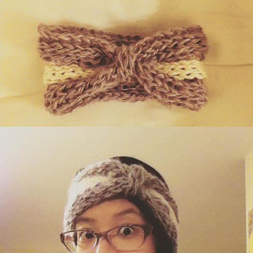 Free tutorial fingerknitted headband