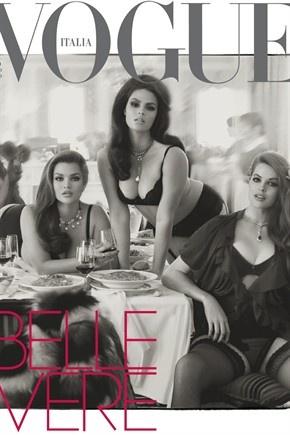 Vogue italia: in copertina le «Belle vere»