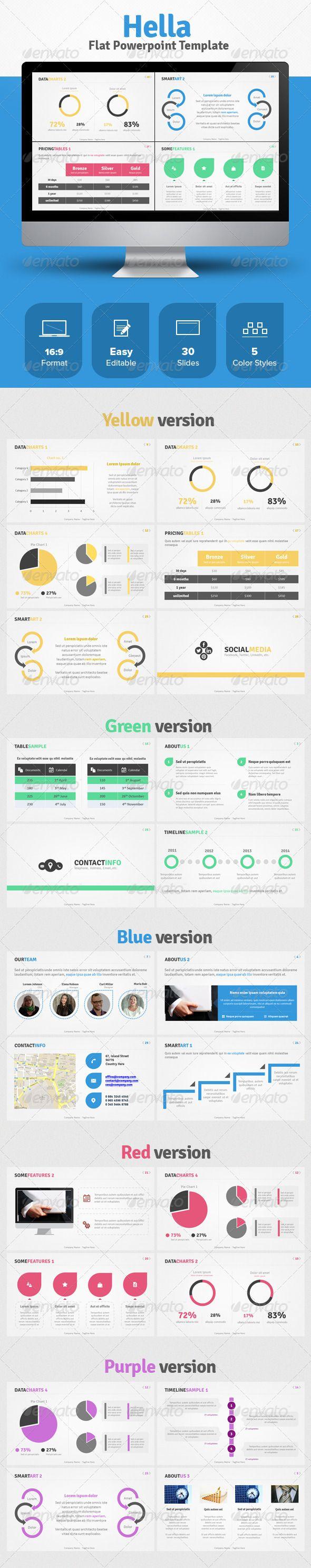 Hella Flat design template