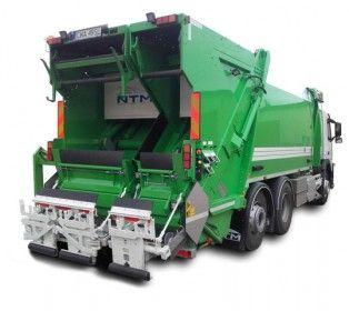 NTM KG-2B Śmieciarka dwukomorowa. Zbiornik podzielony na dwie części 70% i 30% i niezależne dwie płyty wypychowe, odwłoki, płyty prasujące oraz urządzenia do opróżniania pojemników. Pełny zgniot 5:1 w dwóch komorach i całkowicie odseparowane dwie frakcje zbieranych śmieci. Refuse truck, rear loader, garbage vehicles, Kommunalfahrzeuge, Benne a ordures, Recolectores, camion, Carico posteriore