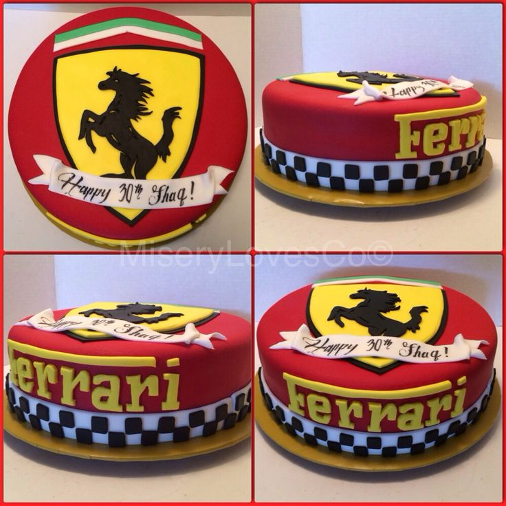 The Ferrari bday cake. All edible Italian stallion.
