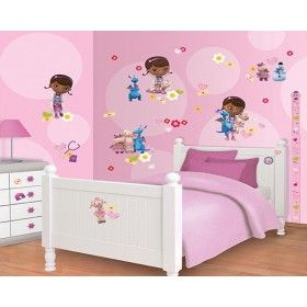 doc mcstuffins bedroom sticker kit with height chart from a range