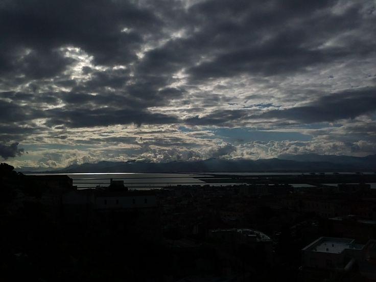 Vista della città di Cagliari da Buoncamino.