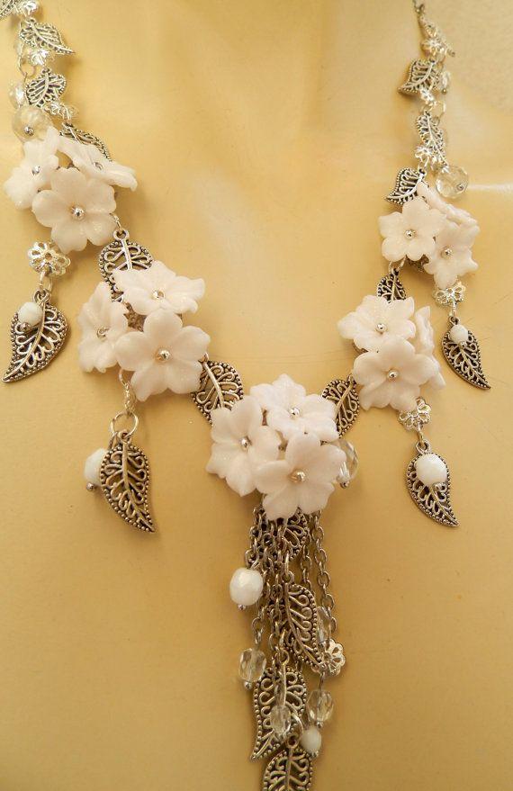 Buttercup flower necklace earrings Handmade by insoujewelry, $70.00