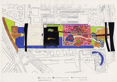 Museumpark Rotterdam, 1989-1994  Rem Koolhaas, Yves Brunier, Petra Blaisse,  Tony Adam, Maartje Lammers, Gregor Mescherowsky