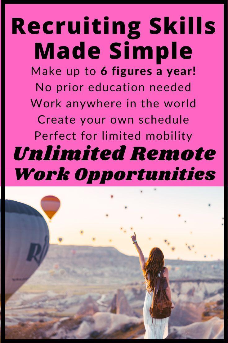 Recruiting Skills Made Simple Remote Work Work Skills Career Help