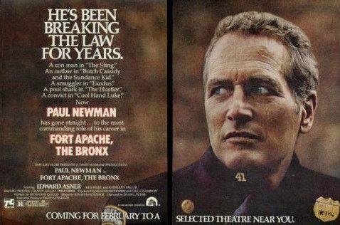 "1981 Fort Apache The Bronx Movie Ad ""Paul Newman"" Advertisement Print"