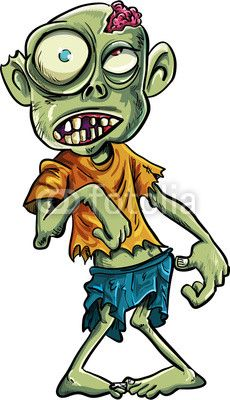 Cartoon zombie with a big eyes