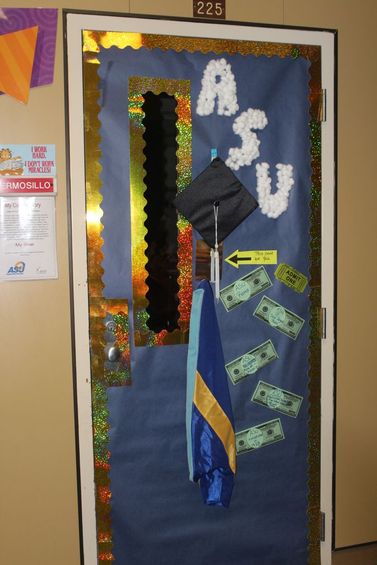 11 best images about college door contest on pinterest for Door design with highlighter