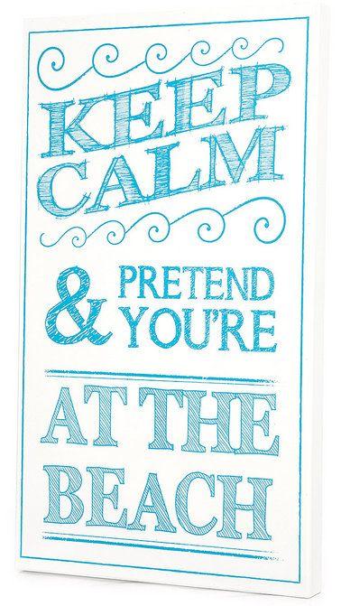 'Keep Calm & Pretend' Wall Art