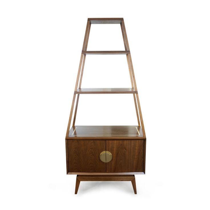 Modern Furniture | Claude Walnut Etagere and Two-Door Storage Set | Jonathan Adler $2100