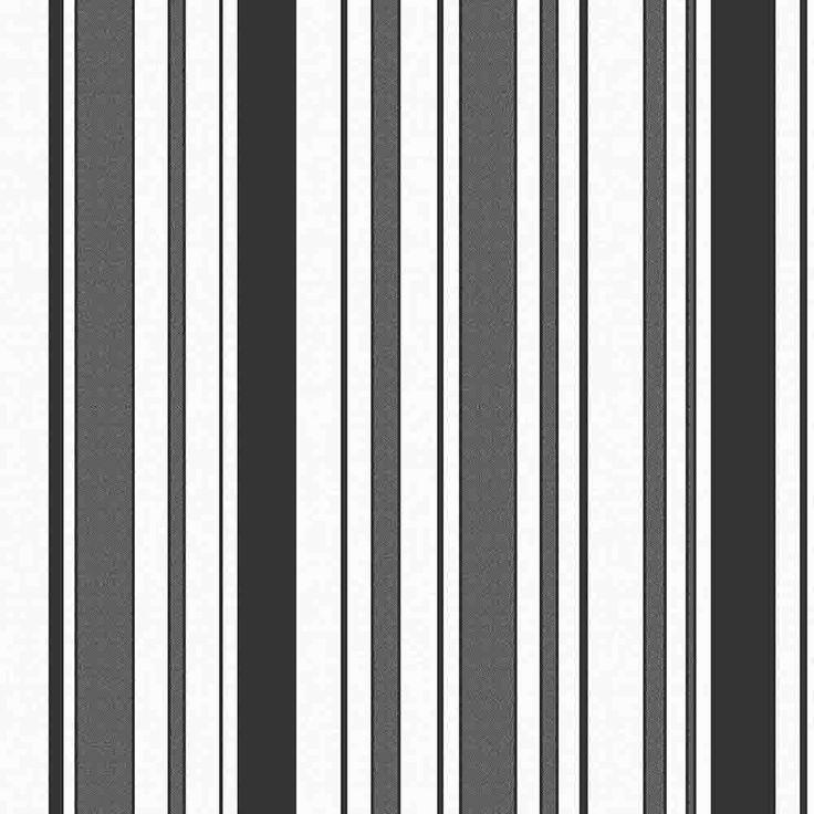 Fine Decor Glamour Glitter Striped Wallpaper White / Black (FD40608) - Wallpaper from I love wallpaper UK