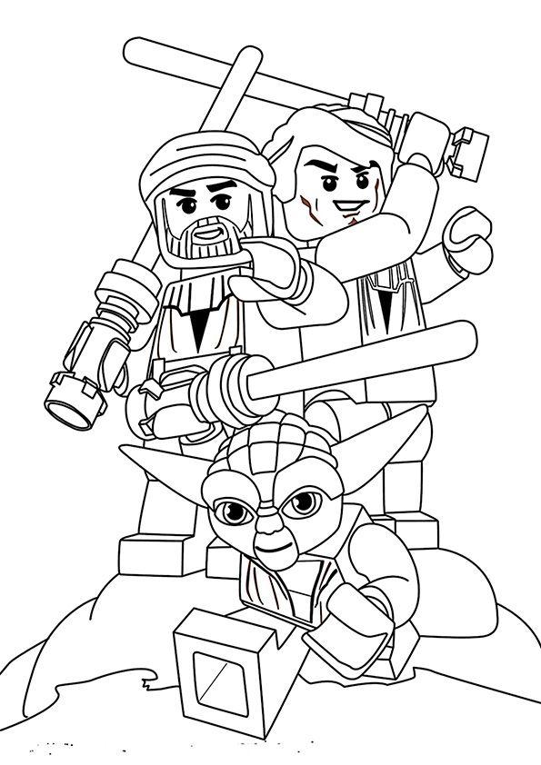 Ausmalbilder Star Wars Lego Kinder
