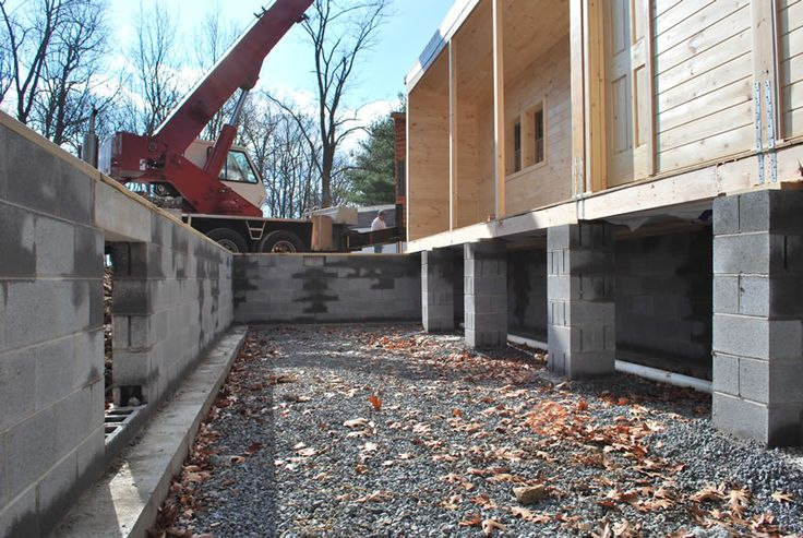 Fondation of cabin concrete blocks w support piers every for Foundation options for cabins