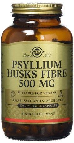 Solgar Psyllium Husks Fiber 500 Mg Vegetable Capsules 200 Vegicaps