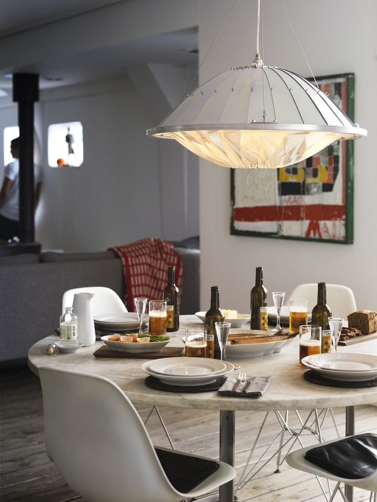Scandinavian interior and table setting. White Elements.
