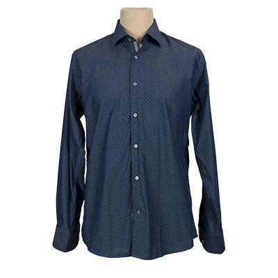 Camicia fantasia vestibilita' regolare - Fantasia blu - Invernale GIODI'S. € 37,00. #hallofbrands #hob #camicia #shirt