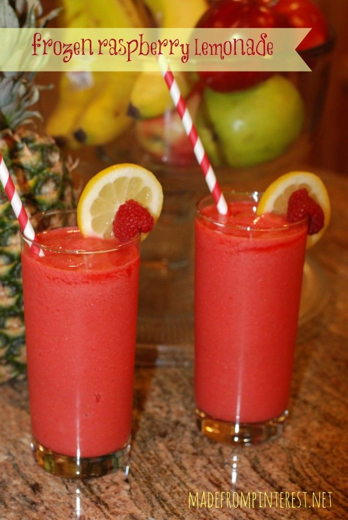 Frozen Raspberry Lemonade.  You know you want one!