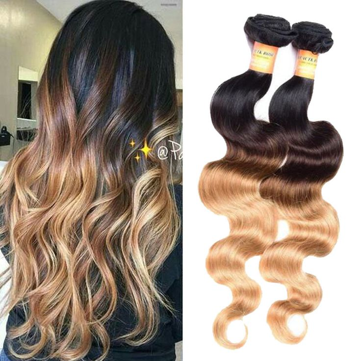 """150g 10""""-22"""" Brazilian Ombre 100% Human Hair Extension Body Wave Hair Weft 1b/27 #Ombr"""