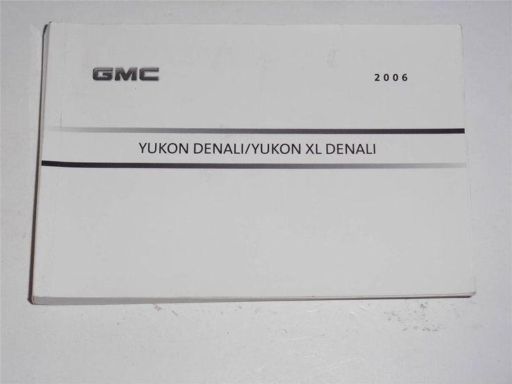 The 872 best owners manuals images on pinterest book books and 2006 gmc yukon denaliyukon xl denali owners manual book publicscrutiny Choice Image