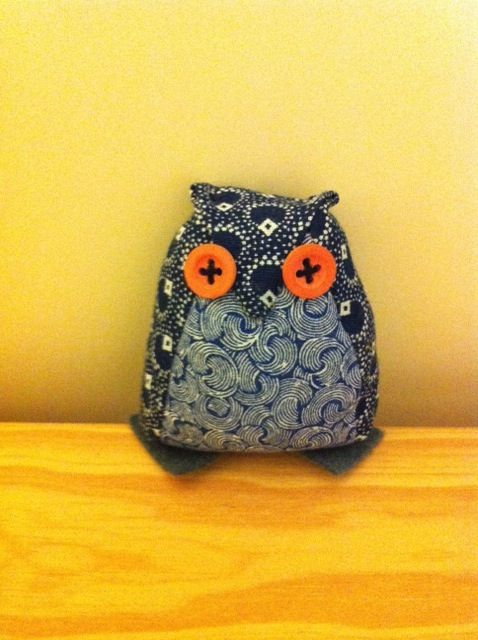 Cuddly little owl made by Jenny Hermans (Cape Town)