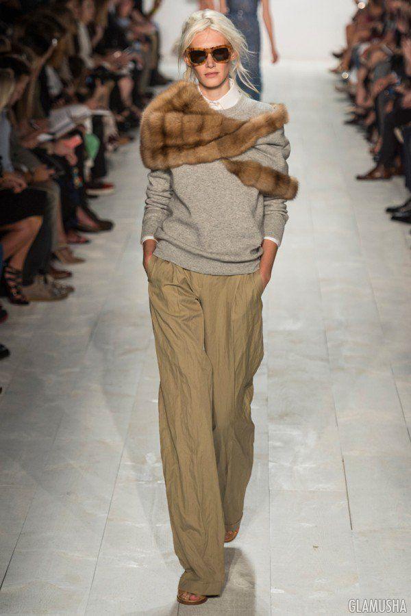 Широкие брюки с чем носить | GLAMUSHA.ru