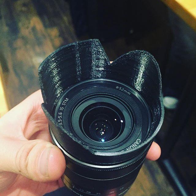 Just broken... #3Dprinting lens hood!! from #taiwan #3Dprint