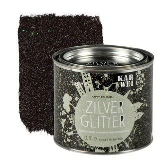KARWEI Happy Colours muurverf zilver glitter 500 ml | Muurverf kleur | Muurverf | Verf & verfbenodigdheden | KARWEI