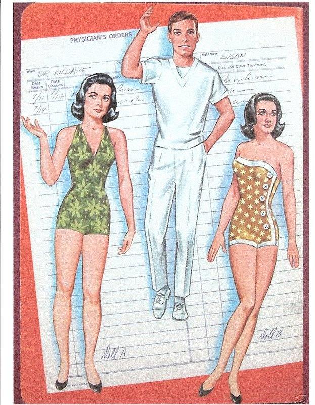 Dr. Kildare paper dolls