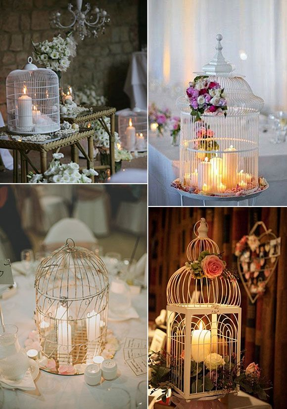 Jaulas para decorar tu boda. #wedding #birdcage                                                                                                                                                                                 Más
