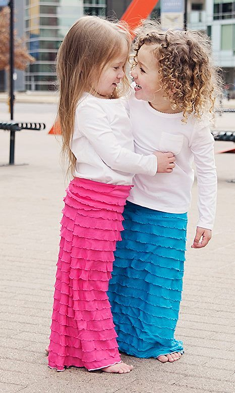 Ruffled+Maxi+Skirt++Aqua+by+HemmedInBoutique+on+Etsy so cute! - Best 10+ Little Girl Skirts Ideas On Pinterest Girl Skirts
