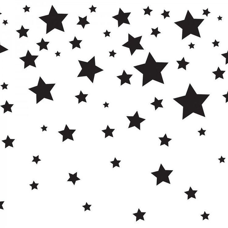 FALLING STARS Black and white stars, Falling stars, Kids