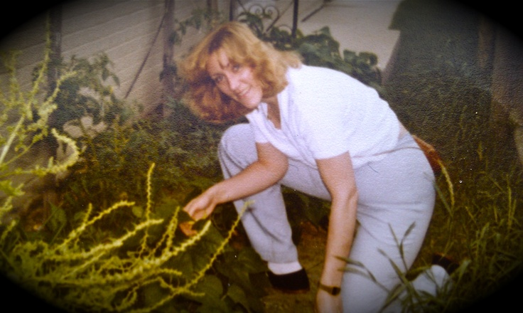 When my mom was younger, she was a bright entrepreneur. A university graduate, she earned her Master's degree in business from Loyola. She had her own lithography company. She was a model in New York. She was an artist.  She also was an avid world traveller. And yes, she loved to garden #uncommon #contest